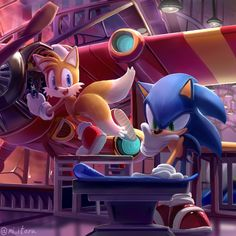 """""""Sonic and Tails"""" by miitara Sonic The Hedgehog, Hedgehog Movie, Shadow The Hedgehog, Sonic Funny, Sonic 3, Sonic Fan Art, Sonic Mania, Sonic Franchise, Sonic Heroes"""