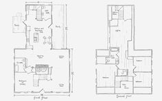 Colonial House with Center Chimney First Floor Plan Illustration ...