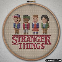 Stranger Things Cross Stitch Pattern - Instant Download PDF by StitchBucket on Etsy https://www.etsy.com/dk-en/listing/460817166/stranger-things-cross-stitch-pattern