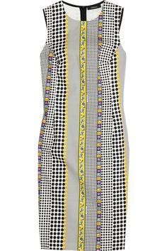 Versace Mixed-print stretch-cotton dress