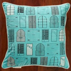 Doors Pillow Turquoise now featured on Fab.