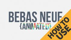 How to use 5 Colour Animated font from ECAbrams - Adobe After Effects tutorial
