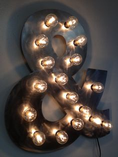 Ampersand light lamp custom finish by WestVintageTradingCo on Etsy, $120.00