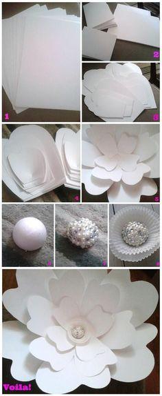 diy propres idées de fleurs grande de mariage de papier