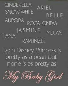 My baby girl,this is so cute! So doing this on the wall if I have a girl!