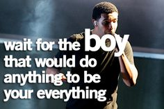 we'll wait drake <3 he's out there!