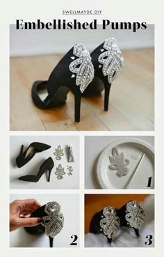 16 DIY Projects: Heels for Spring - Pretty Designs Do It Yourself Mode, Do It Yourself Fashion, Wedding Shoes, Diy Wedding, Prom Shoes, Dress Wedding, Shoe Makeover, Dress Makeover, Shoe Refashion