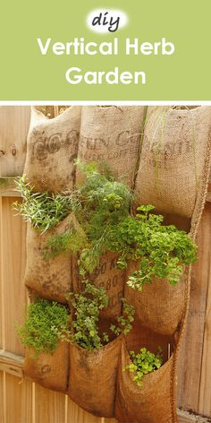 Spring time is the perfect season to plant those herbs that will last you all summer long. This easy DIY project requires just a little sewing before you can start sowing! Vertical Vegetable Gardens, Home Vegetable Garden, Herb Garden, Garden Plants, Growing Gardens, Growing Herbs, Cottage Garden Design, Outdoor Gardens, Outdoor Life