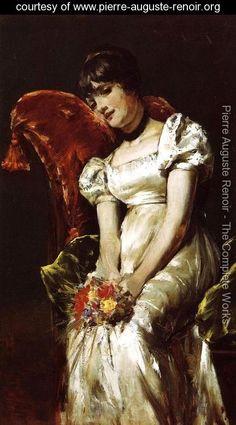 A Girl - Pierre Auguste Renoir -