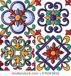 Imagens fotos stock e vetores similares de ornaments on the tiles watercolor spain italy Majolica floral ornament 527178538 Fantasy Background, Plains Background, Background Vintage, Background Patterns, Cool Backgrounds, Summer Backgrounds, Indian Patterns, Tile Art, Arabesque