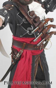 AC Black Beard Baldric N Belt System – Pirate Fashions