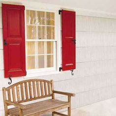 LOVE THIS with a RED door too   Photo: Kolin Smith | thisoldhouse.com | from 28 Easy Summer Weekend Projects