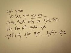 Fool's Gold- One Direction