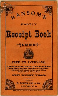 Ransom's Family Receipt Book (CK0003) - Emergence of Advertising in America - Duke Libraries