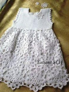 Ангелы колыбели: вязание крючком платье сказка