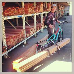 Heavily loaded Xtracycle Urban Bike, Commuter Bike, Cargo Bike, Cycling Gear, Bike Stuff, Bikers, Touring, Trailers, Kayaking