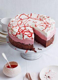 Schoko-Erdbeer-Vanille-Torte - [ESSEN UND TRINKEN]
