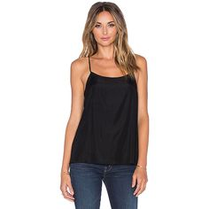 Assembly Label Scoop Neck Cami Tops (75.845 CLP) ❤ liked on Polyvore featuring tops, tanks, silk camisole, camisoles & tank tops, silk tank top, silk cami and scoop neck tank