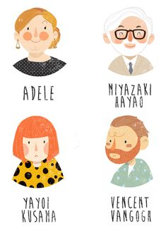 famous people illustration
