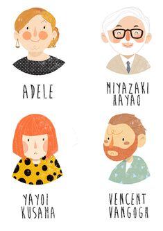 famous people illustration