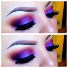 heavy purple eye make up Gorgeous Makeup, Pretty Makeup, Love Makeup, Makeup Inspo, Makeup Art, Makeup Style, Crazy Eye Makeup, Dramatic Eye Makeup, Awesome Makeup