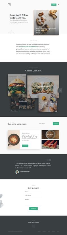Krt recipe landing Flat Design, App Design, Recipe Land, Web Design Inspiration, Design Ideas, Food Website, Landing Page Design, User Interface Design, Creative Design