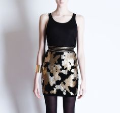Michel Klein Sequined skirt #luxury #modewalk