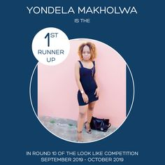 💥🎊Please congratulate Yondela Makholwa Chrisi Ndelar.makholwa who is the runner up in Round 10 of the Looklike competition, run from Septemb. Competition, That Look, Style Inspiration, Running, Streetwear, September, Outdoors, Summer, Mens Fashion