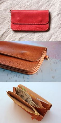 Personalized Cheer Genuine Leather Smartphone Wrist Wallet