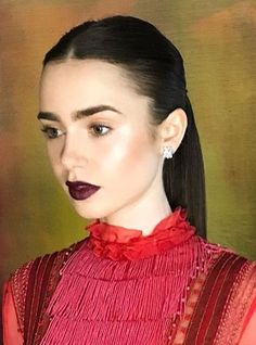 Lily Collins Lily Collins Hair, Face Forward, Without Makeup, Female Celebrities, About Hair, Makeup Inspo, Hollywood Actresses, True Beauty, Most Beautiful Women