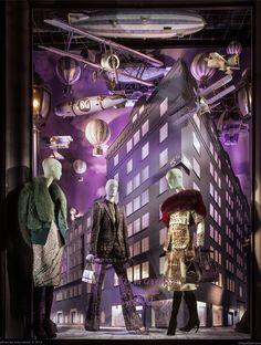 Anniversary Windows installation celebrates the history of ++ Bergdorf Goodman. Retail Windows, Store Windows, Bergdorf Goodman, Visual Merchandising, Store Window Displays, Display Window, Shop Icon, Shop Interior Design, Retail Design