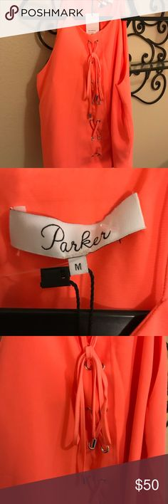 Parker! Women's Top! BNWT! Size Medium! Bright and super nice Parker Women's Top.  Size medium.  It's time to start thinking about spring/summer tops.  This was my daughters top but she is having to sell some of her clothes following a surgical procedure, Parker Tops Tank Tops