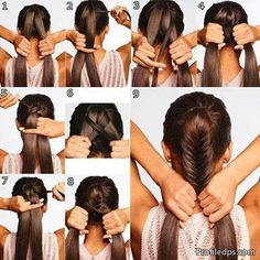 Girls New Hairstyle Steps Tutorials