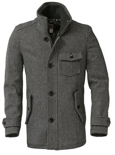 Bring out your personality with our men's wool car coat. From cold nights to hot dates this Canadian made fingertip length coat leaves you feeling nothing short of nirvana. Features 24 oz. Melton wool, satin lining, two inside pockets, double zipper/button closure and rib knit stand up collar.    http://www.schottnyc.com/products/men/carcoat/wool-car-coat.htm