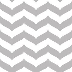 Gail Wright at Home Designer Fabric by the Yard - Chevron Wave Stripe Gray and White