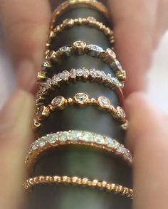 Rose Gold Bands @cobymadisonjewelry 15710 Whittwood Lane #whittier #Ca #rosegoldring #rosegoldjewelry #weddingring #weddingband  #sayyes #theknotrings #theonetruering  #jewelry #uptownwhittier #stackablerings #lamirada#shopwhittier #eternityrings #uniquerings #diamondrings #goldbands #losangeles #brea #whittierjewelry #whittierjewelrystore #finejewelry #friendlyhills #fullerton #jewelry #sayyes #silverlake #style #highfashion Stackable Diamond Rings, Stacking Rings, Rose Gold Jewelry, Fine Jewelry, Silver Lake, Eternity Ring, Gold Bands, Unique Rings, Jewelry Stores