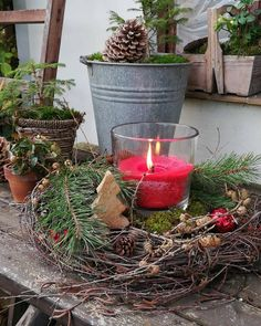 Christmas Traditions, Red Christmas, Planter Pots, Traditional, Instagram, Outdoors, Illusions, Xmas, Lawn And Garden