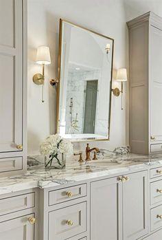 A Beautiful Showcase Home! A Beautiful Showcase Home! Bathroom Interior Design, Home, Remodel, Bathroom Mirror, White Bathroom, Amazing Bathrooms, Luxury Bathroom, Bathrooms Remodel, Bathroom Decor