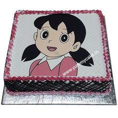 Find a huge variety of Shizuka birthday cake at YummyCake. Cartoon Cakes, Fresh Cake, Happy Birthday Cake Topper, Cake Online, Minnie Mouse, Cool Designs, Kids, Young Children, Boys