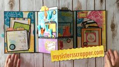 Today I want to share a trifold folio that I created using the super fabulous Bo Bunny Believe collection. This paper is so bright and happy! Mini Albums Scrap, Mini Scrapbook Albums, Scrapbook Pages, Scrapbooking, Mini Books, Flip Books, Book Crafts, Paper Crafts, Diy Crafts For Girls