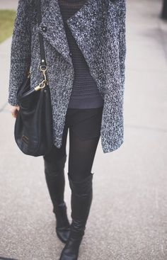 great winter look @Mary Seng > HAPPILY GREY