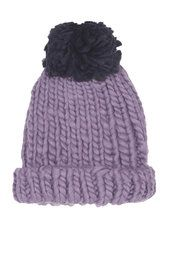 Pom pom hat, cosy and looks to be used to keep your head warm. Ages 5 and over, used for winter