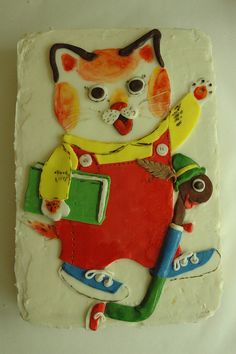 Huckle and lowly worm Birthday cake! busytown richard scarry