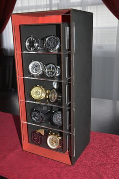 Siempo, display case is customizable as dimensions vary on every project.
