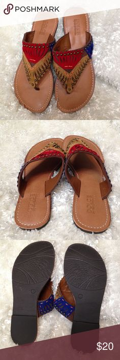 🆕 Listing! Dolce by Mojomoxy Southwestern Sandals Like new sandals with vibrant southwestern design. Dolce by Mojomoxy Shoes Sandals