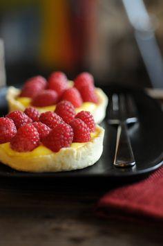 Raspberry Lemon Curd Tart
