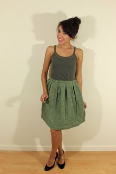 1950s Vintage Green Wool Skirt by VintageRevival818 on Etsy