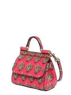 MINI SICILY SACRED HEART LEATHER BAG Dolce & Gabbana