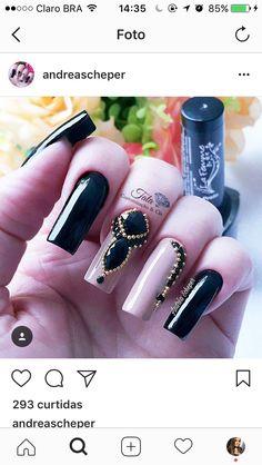 WOW Glam Nails, Bling Nails, Toe Nails, Nails Decoradas, Nail Patterns, Cute Acrylic Nails, Nail Tutorials, Love Makeup, Perfume