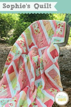 Sophie's Quilt made with Scrumptious by Bonnie and Camille. Free pattern by Aubrey Marshall on Moda's Bake Shop @modafabrics